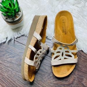 Naot Slip On Rhinestone Sandals